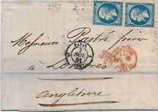 Lettre n°14x2 CaD Paris 3421 Pointillé Fin pour Londres Cover Brief