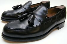 MENS COLE HAAN BENCH MADE BLACK LEATHER TASSEL LOAFER DRESS SHOES SZ 8.5~1/2 M