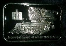 IH International Harvester Combine Belt Buckle (Silver & black)