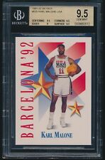 1991-92 Skybox #535 Karl Malone USA Dream Team BGS 9.5