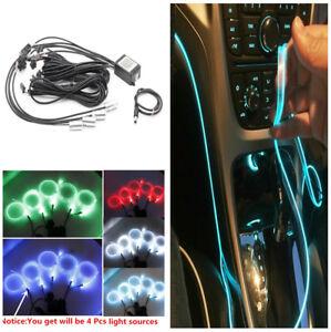 6M Car Atmosphere Ambient Lights Cold Light Lamp LED EL Strip Light Interior Kit