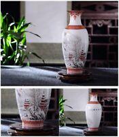 Ceramic Vase Eggshell Vintage Porcelain Chinese Crafts Antique Reproduction
