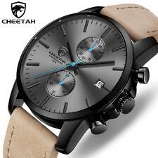 2019 Men Watch CHEETAH Brand Fashion Sports Quartz Watches Leather Waterproof