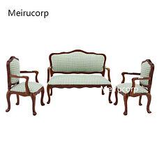 1/12 scale dollhouse miniature furniture Fabric Chair sofa set 3pcs