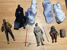 "Star Wars The Black Series 6"" Rey & Kylo Ren Starkiller Base Set & Finn, Maz"