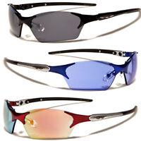 X-Loop Rimless Metal Frame Sport Cycling Running Wrap Around Sunglasses