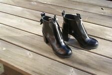 Black Leather Ankle Boots by Cheap Monday Size EU 39 = UK 6