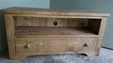 NEW REAL SOLID WOOD CHUNKY RUSTIC PLANK PINE tv stand cabinet entertainment unit