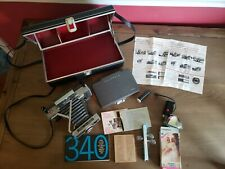 Polaroid Automatic 340 Land Camera w/ 268 Flash, Bulbs, ColdClip, Case, & more