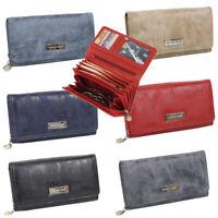 Damen Geldbörse groß Portemonnaie Geldbeutel für Frauen hochwertig - in 6 Farben