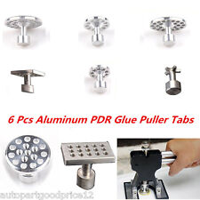 6pcs Aluminum Glue Pulling Puller Tabs For Car Paintless Dent Hail Repair Tools