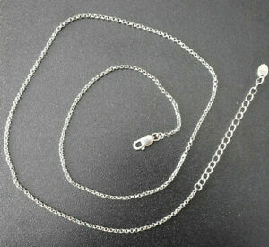 Erbskette 925er Silber 46cm + 5cm Verlängerung 1,7mm Stärke