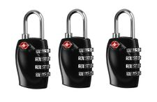 3x TSA Combination Approved 4 Dial Luggage Suitcase Security Padlock Travel Lock