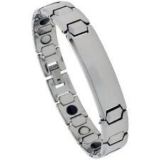 Tungsten Carbide Magnetic ID Bracelet