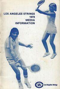 1978 Los Angeles Strings World Team Tennis Media Guide - Chris Evert WTT #FWIL