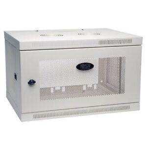 Tripp Lite SRW6UW 6u Cabinet Wallmount Enclosure Wall Doors Sides White