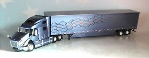 DCP SMOKY MOUNTAIN BLUE VOLVO VNL 760 SLEEPER CAB 53' TRAILER 1/64 60-0645
