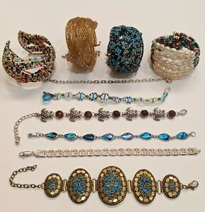 Bracelet Lot 10 Pieces Freshwater Pearl Beaded Cuff Link