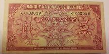 5 Francs 1 Belga 1943-1945 KM:121 1943 Belgique Belgïe Belgium 5 Frank #F6#
