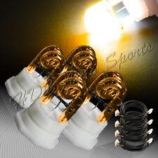 4 X Amber HID Hide A Way Emergency Warning Flash Strobe Light Bulbs Universal 5