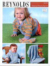 Baby Aran, Blanket, Cardi & Hat - Reynolds Knitting Pattern 82151 Norah Gaughan