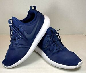 Nike Womens Roshe Two 844931-401 Blue Running Shoes Lace Up Low Top Size 9
