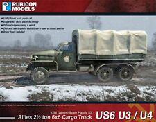 28MM ALLIED CARGO TRUCKS US6 U3/U4 - RUBICON - 1/56 - WW2 - 1ST CLASS POST - NEW