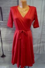 NWT Shabby Apple Red Wrap Dress Sz 6 Let's Do the Time Wrap Again