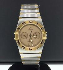Omega Constellation 34mm Chronograph Two Tone Yellow Gold & Steel Quartz