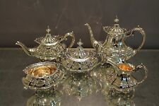 Reed & Barton Hampton Court 5 Piece Tea Set In MINT Condition.The Perfect Gift