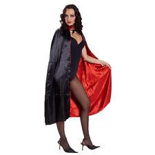MANTELLO XL Raso Nero cm 120 Vampiro Dracula Carnevale Halloween 110 74657XL