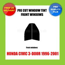 HONDA CIVIC 3-DOOR 1996-2001 FRONT PRE CUT WINDOW TINT KIT