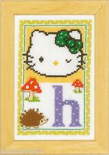 Vervaco  0149532  Alphabet © Hello Kitty - Lettre H  Kit  Point de Croix  Compté