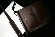 GARIZ Leather Camera Bag Brown CB-LZMSP Medium Size