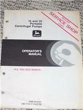 John Deere15 20 Centrifugal Pumps Operator's Manual