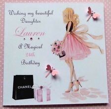 HANDMADE PERSONALISED BIRTHDAY CARD SISTER FRIEND DAUGHTER NIECE COUSIN ANY AGE