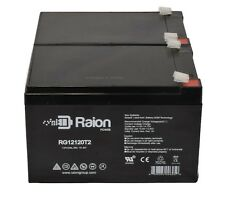 Raion 2 Pack - 12V 12Ah Replacement Battery for Pride Mobility GoGo Scooter
