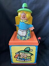 Vintage 1976 Mattel Canada MOTHER GOOSE Musical Jack In The Box Toy Works!