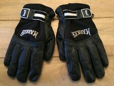 VINTAGE MARKER LEATHER INSULATED GLOVES ( X-SMALL ) BLACK & WHITE PREOWNED