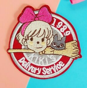 Studio Ghibli Kiki's Delivery Service 🌺 embroidered patch vintage sew iron on
