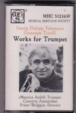 Georg Philipp Telemann Giuseppe Torelli Works For Trumpet Cassette New/Wrapper!