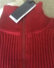 NWT Mens Buffalo David Bitton Red 1/2 Zip up Red  Puller over/Sweater Size S/P