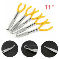 """0 25 45 90 Degree Ring Shape 11/"""" Straight Bent Long Needle Nose Plier YELLOW PPR"""