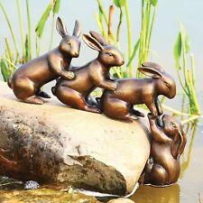 Home & Garden Decor Helping Hands Bunny Rabbit Friends Statue Aluminum Pond Lawn