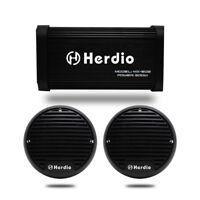 4-CHANNEL 500W MARINE BOAT AUDIO BLUETOOTH AMPLIFIER +3INCH SPEAKERS (BLACK)