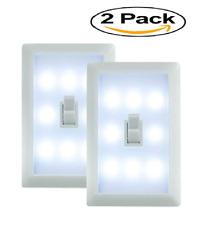 2 PACK INDOOR 6 LED SWITCH NIGHT LIGHT GARAGE BEDROOM CLOSET BY Sentik®