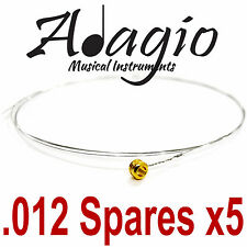 MultiPack Of 5 x 012 Strings Spares Acoustic Electric Guitar Adagio Top E or B