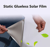 Reflective Silver Solar Mirror Static Window Film One Way Privacy Sticky Tint