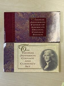 1993 Thomas Jefferson Coinage and Currency Set Original Government Pack With COA