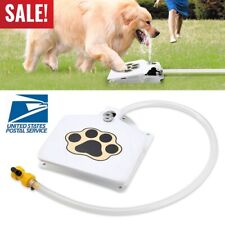 Happy Dog Pet Water Fountain Upgraded Outdoor Step-On Doggie Fountain Provides